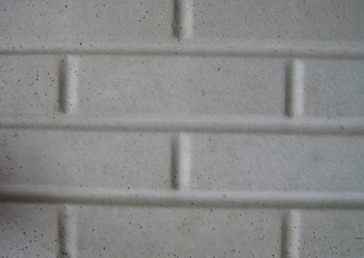 Precast small smooth brick